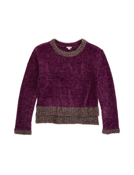 Cassidy Metallic Trim Chenille Sweater by Habitual