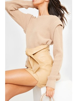 Lorna Luxe Stone 'voltaire' Knit Jumper by In The Style