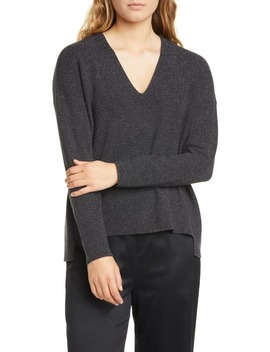 Boxy Shimmer Wool Blend Top by Eileen Fisher