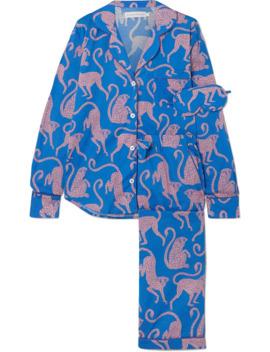 Soleia Printed Cotton Voile Pajama Set by Desmond & Dempsey
