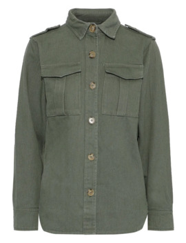 Raven Cotton Blend Gabardine Jacket by Line
