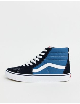 Vans Sk8 Hi Trainers In Navy by Vans'