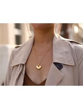 Gold Zenyu Fan Chain Necklace Set by Missoma