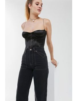 Out From Under Chain Strap Corset Top by Out From Under