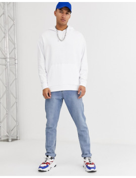 Asos Design Oversized Hoodie In White With Hand Drawn Back Print by Asos Design