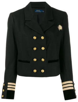 Officer Style Cropped Blazer by Polo Ralph Lauren
