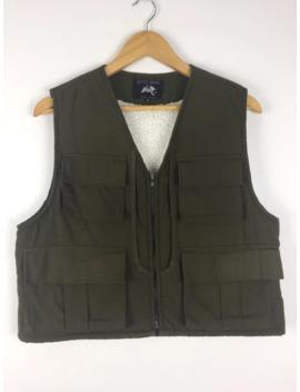 Vintage Sport Wear Sherpa Fleece Lined Utility Vest by Vintage  ×  Military  ×  Japanese Brand  ×