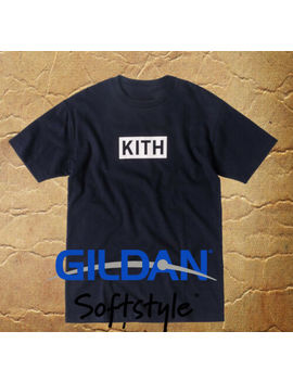 Kith Classic Box Logo Navy Tee Shirt Mens Gildan T Shirt A Bating Ape Baby Millo by Gildan