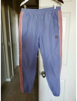 Teddy Fresh Periwinkle Blue & Pink Nylon Track Pants Men's Medium Nwot by Ripndip Teddy Fresh