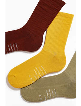 Uo Overdyed Crew Sock 3 Pack  by Urban Outfitters