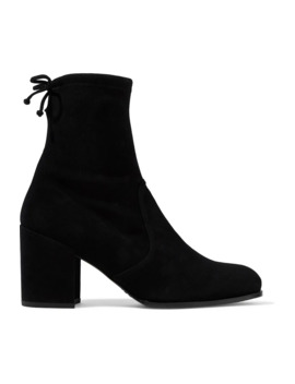 Stretch Suede Ankle Boots by Stuart Weitzman