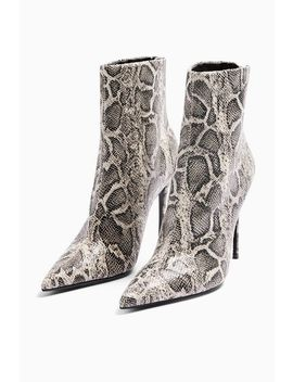 Eda Grey Snake Point Boots by Topshop