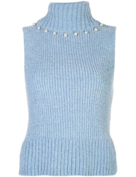 Floyd Sleeveless Knitted Top by Staud