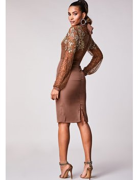 Eleanor Dress Brown by Virgos Lounge