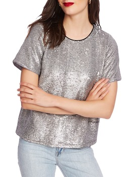 Sequin Short Sleeve Tee by Court & Rowe