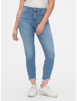 High Rise Curvy True Skinny Ankle Jeans With Secret Smoothing Pockets by Gap