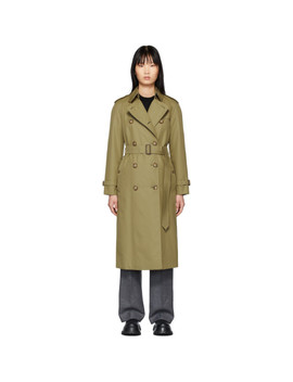 Khaki 'the Waterloo' Heritage Trench Coat by Burberry