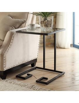 Carolina Cottage Royce Glass Top Side Table In Gold by Bed Bath And Beyond