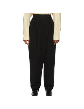 Black Loose Trousers by Lemaire