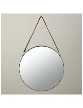 John Lewis & Partners Ronda Round Hanging Mirror, Dia.50cm, Nickel by John Lewis & Partners