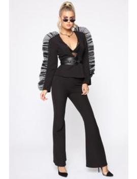 Shot Caller Suit Set   Black by Fashion Nova
