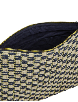 Woven Zip Top Clutch Bag by Accessorize