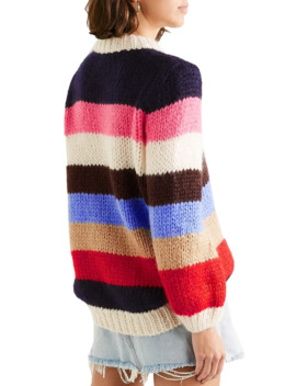 Julliard Striped Wool And Mohair Blend Sweater by Ganni