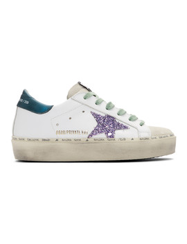 Ssense Exclusive White & Blue Limited Edition Hi Star Sneakers by Golden Goose