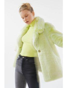 Avec Les Filles Boxy Faux Fur Coat by Avec Les Filles