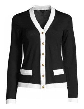 Sebill Contrast Trim Cardigan by Escada