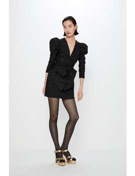Vestido Com Estrutura E LaÇo by Zara