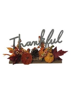 Celebrate Fall Together Thankful Artificial Pumpkin Table Decor by Celebrate Fall Together