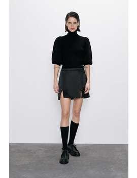 Pullover A Costine Con Maniche A Sbuffo by Zara