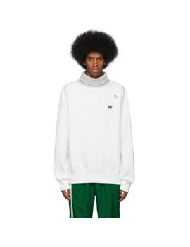 White Ade Turtleneck Sweatshirt by Ader Error