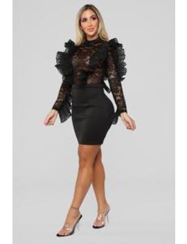 Runway Ready Ruffle Dress   Black by Fashion Nova