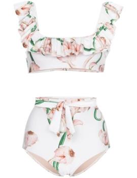 Aglio Floral Print Bikini by Adriana Degreas