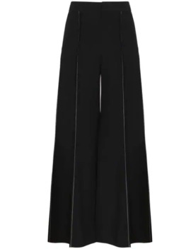 Contrast Stitch Flared Trousers by Marni