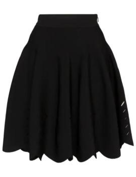 Laser Cut Flared Mini Skirt by Alexander Mc Queen