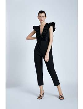 Jumpsuit With Frilled Sleeves by Zara
