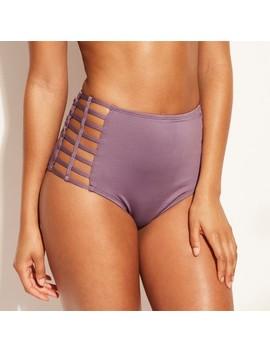 Women's Caged Side High Waist Bikini Bottom   Shade & Shore™ by Shade & Shore