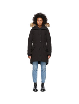 Black Down Rossclair Parka by Canada Goose