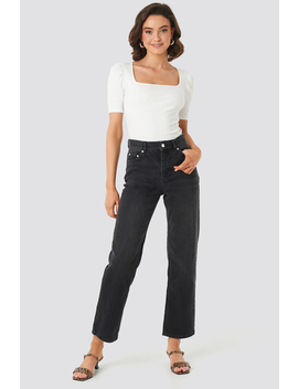 Front Pleat Jeans Svart by Na Kd Trend