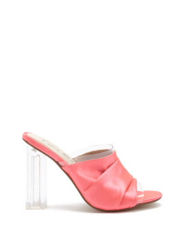 Lemon Drop By Privileged Satin Ruched Mules by Forever 21