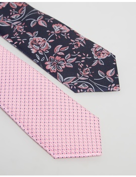 Floral & Textured Ties 2 Pack by Geoffrey Beene