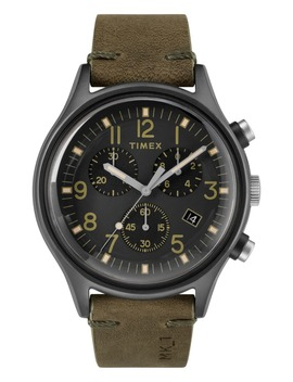 Mk1 Chronograph Leather Strap Watch, 42mm by Timex
