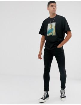 Asos Design – Vincent Van Gogh – T Shirt Oversize Z Nadrukiem by AsosDesign