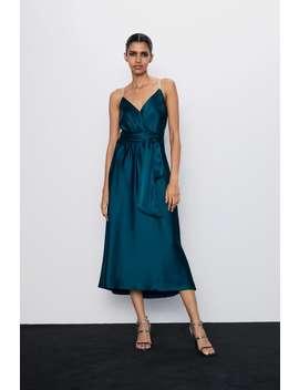 Vestito Lingerie Con Spalline Di Strass by Zara