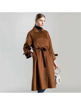 Wolle Lange Mantel, Winter Mantel Kleid, Minimalistische Lange Jacke, übergroße Mantel Für Frauen, Vintage Mantel Mit Taschen by Etsy