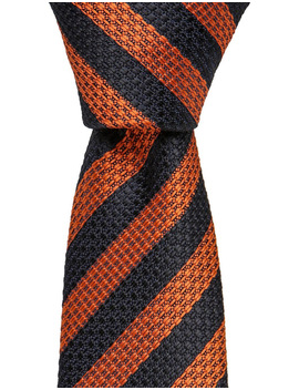 Stripe Silk Tie Rust by Blaq