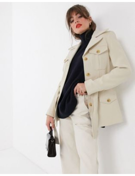 &Amp; Other Stories Structured Belted Jacket In Cream by & Other Stories